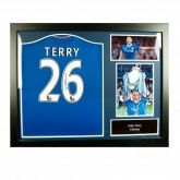 Футболка с автографом Джона Терри Terry Signed Shirt (Framed)