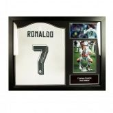 Футболка с автографом Криштиану Роналдо Ronaldo Signed Shirt (Framed)