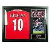 Футболка с автографом Bergkamp Signed Shirt (Framed)