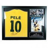 Футболка с автографом Пеле Pele Signed Shirt (Framed)